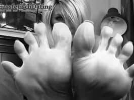 Treffen mit Fußfetisch Milf.