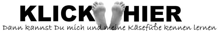 Stinkende Füße lecken