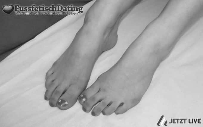 Sexy Füße live vor der Cam